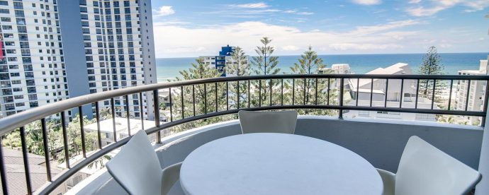 10A-two-bedroom-balcony | The Regent Apartments - Gold Coast Holiday Accommodation Resort