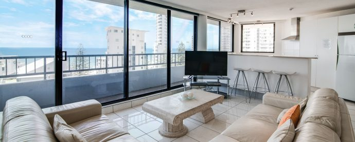 10A-two-bedroom-living-area | The Regent Apartments - Gold Coast Holiday Accommodation Resort