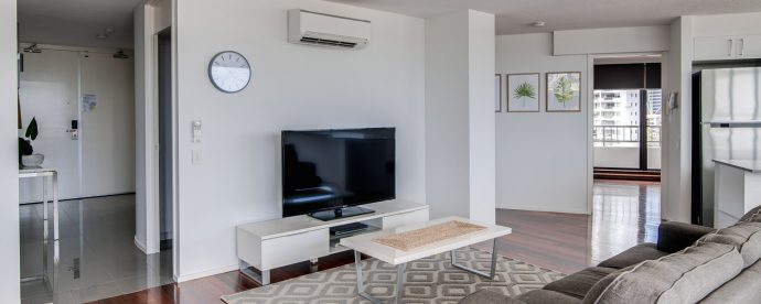 6D-two-bedroom-tv | The Regent Apartments - Gold Coast Holiday Accommodation Resort