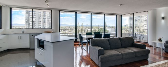 6D-two-bedroom-living | The Regent Apartments - Gold Coast Holiday Accommodation Resort