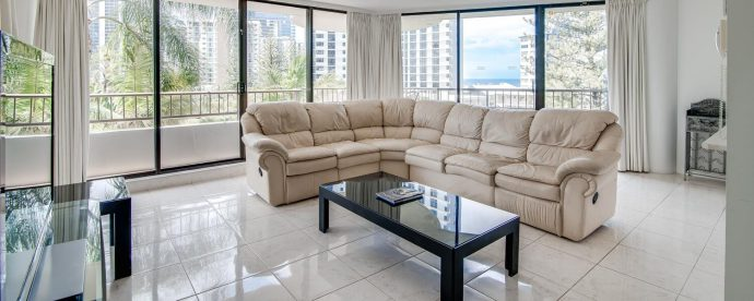 one-bedroom-lounge | The Regent Apartments - Gold Coast Holiday Accommodation Resort