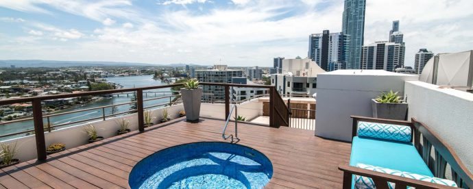 Three-bedroom-penthouse-rooftop-spa | The Regent Apartments - Gold Coast Holiday Accommodation Resort
