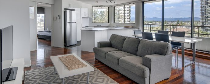 living-kitchen | The Regent Apartments - Gold Coast Holiday Accommodation Resort